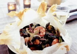 Seafood 'en papillote'