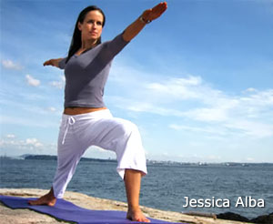 "Jessica Alba told Lucky (magazine): ""Prenatal yoga is really good. I have a bad back and bad knees and it really prepares your body. The more limber you are and the stronger you are, the easier your birth. And isn't that what everybody wants?"""
