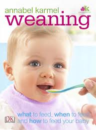 Annabel Karmel weaning book. A bible for many.