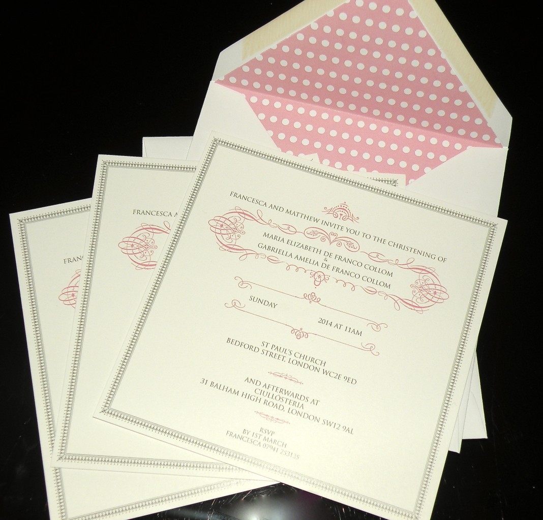 Our invitations from CocoCards