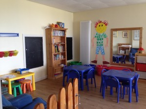 One side of the playroom/ The other had lots of comfy sofas and more toys!