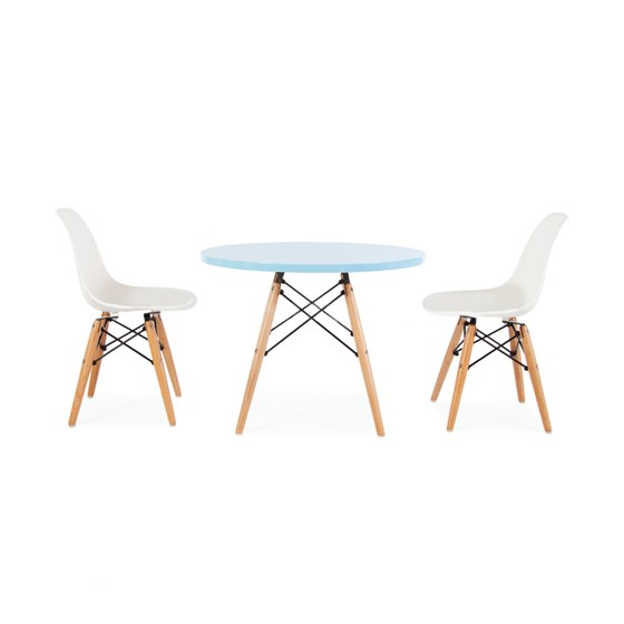 Kids retro modern table and chair set