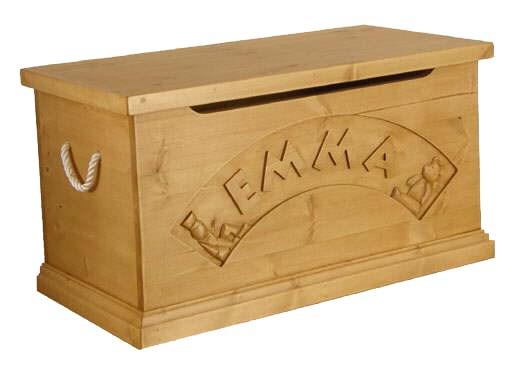 Hibba Classic Pine Personalised Toy Box