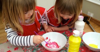 Potato printing and colour mixing